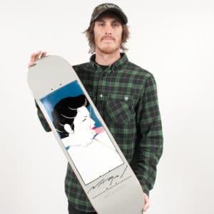 bachinsky introduce his darkstar x Nagel skateboard deck